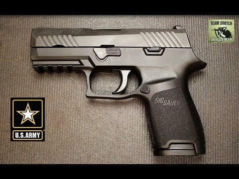 Sig P320 Wins U S  Army XM 17 Pistol Contract