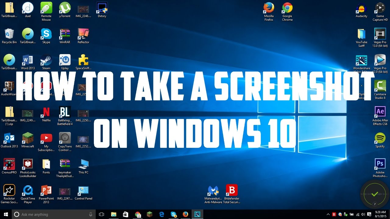 how to take a screenshot on windows 10 youtube