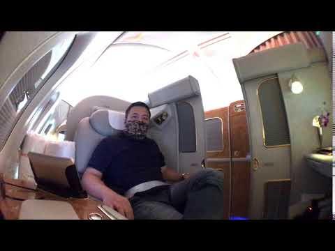 阿聯酋Emirates A380 First Class 好玩的電動門