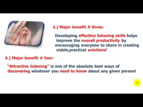 Effective listening skills: The five major benefits of developing them!
