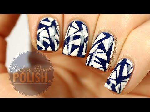 Geometric Triangle Nail Art Tutorial | PackAPunchPolish