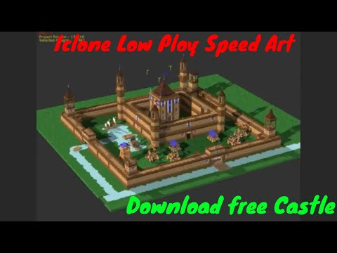 Iclone Speed Art Low poly Castle Download free