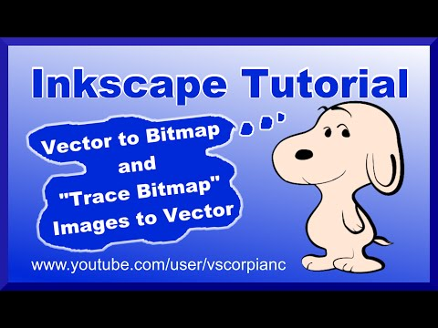 Inkscape Tutorial - How to Convert Image to Vector & Vector to Bitmap by VscorpianC