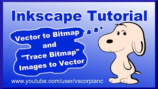 Inkscape Tutorial - NEW Bitmap Image to Vector Graphic (v.0.91) by VscorpianC