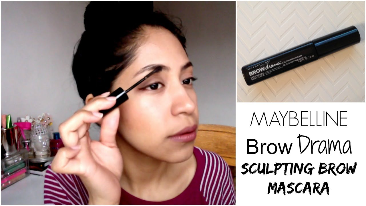 91723ebe37b Review | Maybelline Brow Drama Sculpting Mascara - YouTube