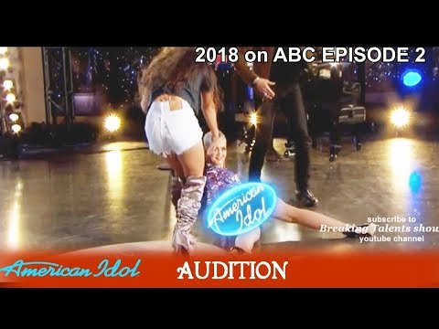 Michelle Sussett from  Venezuela Had All Dancing & Katy FALLS Audition American Idol 2018 Episode 2