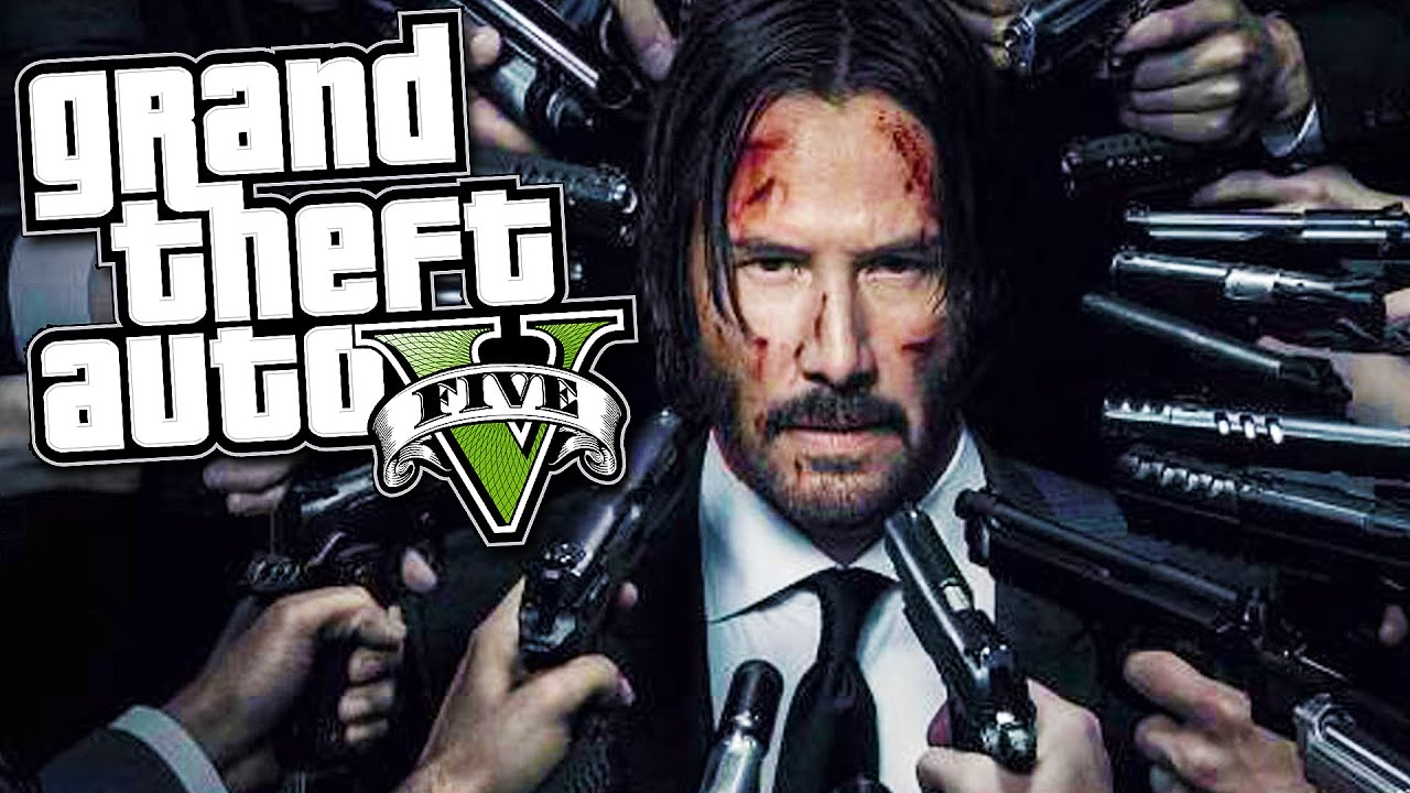 John Wick In Gta5 Gta 5 Epic John Wick Mod Gta 5 Mods Gameplay Youtube