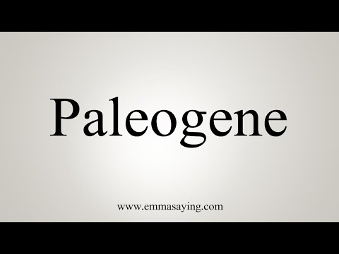 How To Pronounce Paleogene