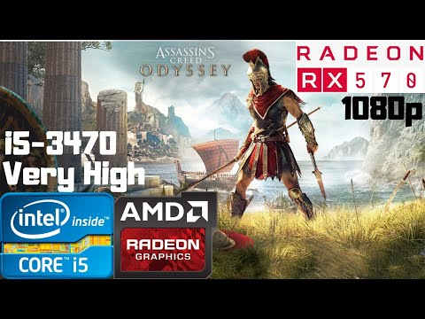 Assassin's Creed Odyssey | i5-3470 | RX 570 8GB | 8GB RAM DDR3 | 1080p Gameplay PC Benchmark |
