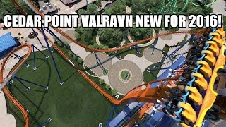 Valravn Roller Coaster POV Cedar Point 2016 Worlds Largest Dive Coaster Front Seat View!