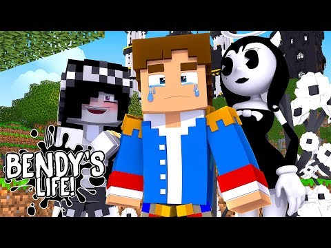 Minecraft BENDY'S LIFE-THE BIG REVENGE: BENDY AND LEAH TURN DONNY'S PALACE BLACK AND WHITE!!!