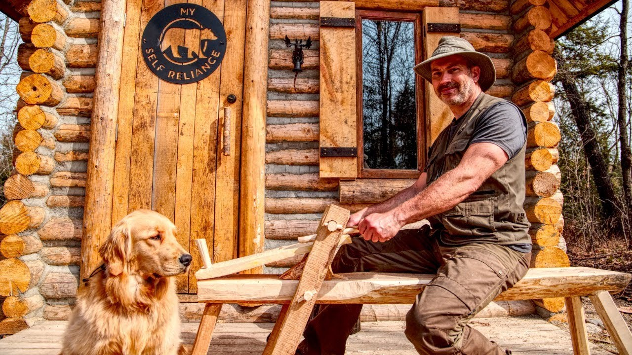 traditional-woodworking-in-the-forest-with-my-dog-cali-the-golden-retriever