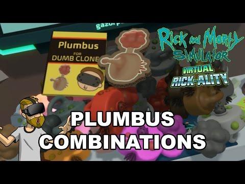 PLUMBUS COMBINATIONS! | Rick and Morty Simulator: Virtual Rick-Ality