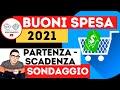 BUONI SPESA 2021 ➡ PARTENZA SCADENZA SONDAGGIO