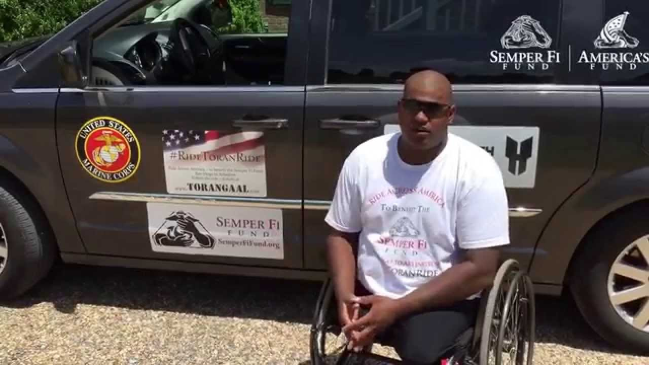 Injured veteran toran gaal handcycles cross country to for Semper fi fund rating