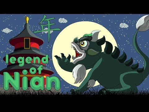 Story of Chinese New year. - Legend Of Nian 年 animation 2018