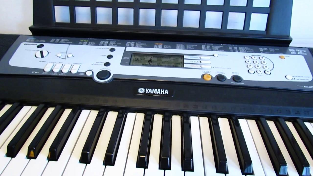 Yamaha portatone psr e213 youtube for Yamaha portatone keyboard