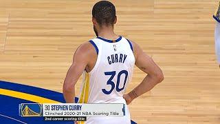 Stephen Curry Hits Step-Back 3 \u0026 Clinches 2020-21 NBA Scoring Title
