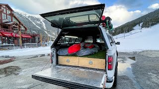 Truck Camping and Snowboarding at Copper Mountain