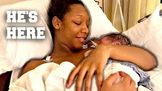 THE EMOTIONAL BIRTH OF OUR BABY BOY LAIDEN!