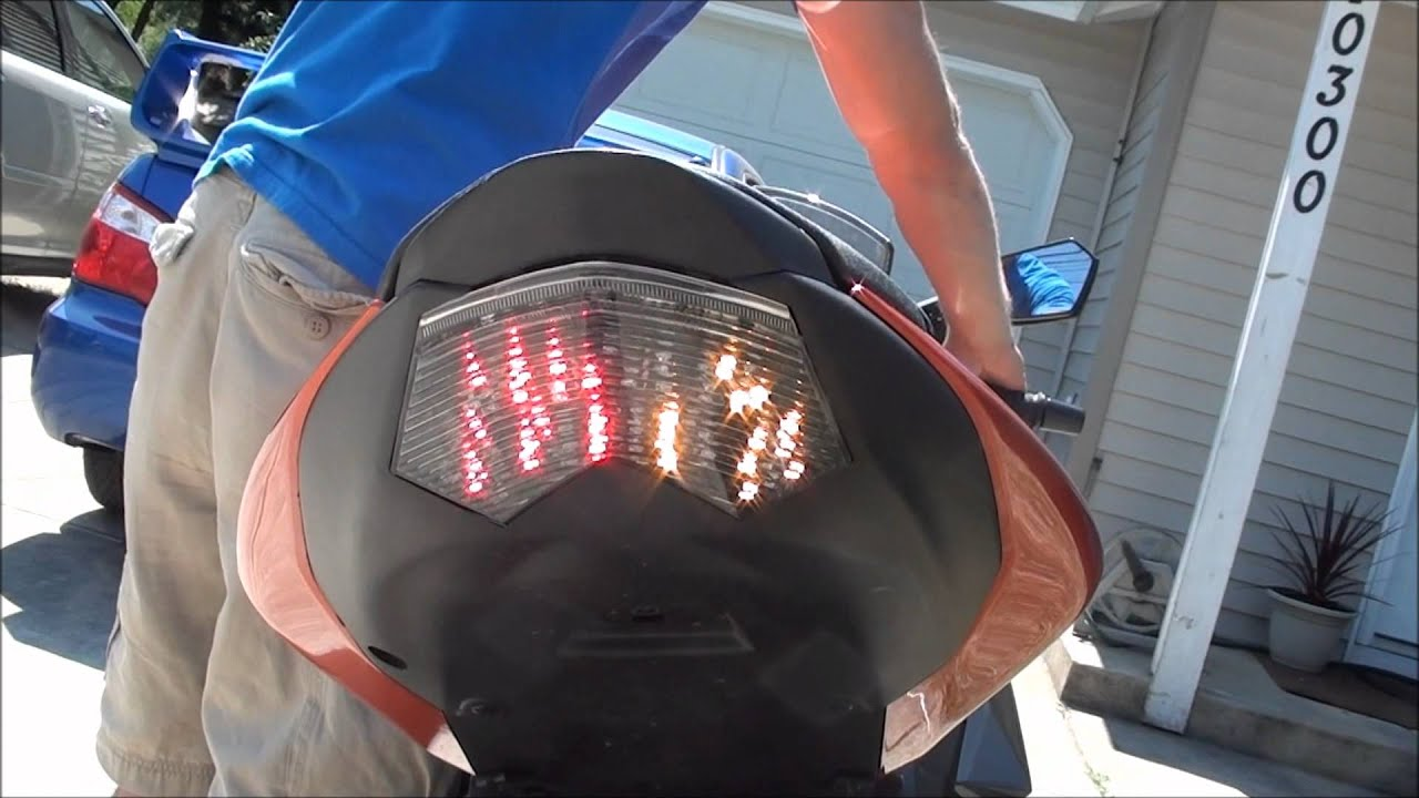2008 Zx10r Wiring Diagram Reinvent Your 2009 Integrated Led Tail Light Brake Turn Signals Youtube Rh Com 2006
