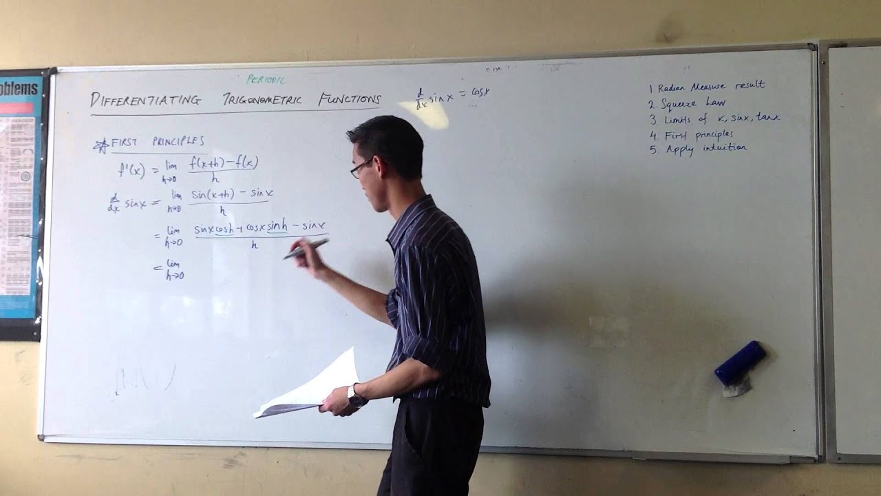 Differentiating sin(x) from First Principles