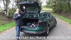 2019 VW Passat Alltrack Kofferraum Check Volumen Abmessungen Stützlast Anhängelast Dachlast