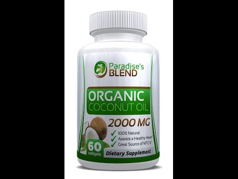 Organic Coconut Oil Capsules by Paradise's Blend