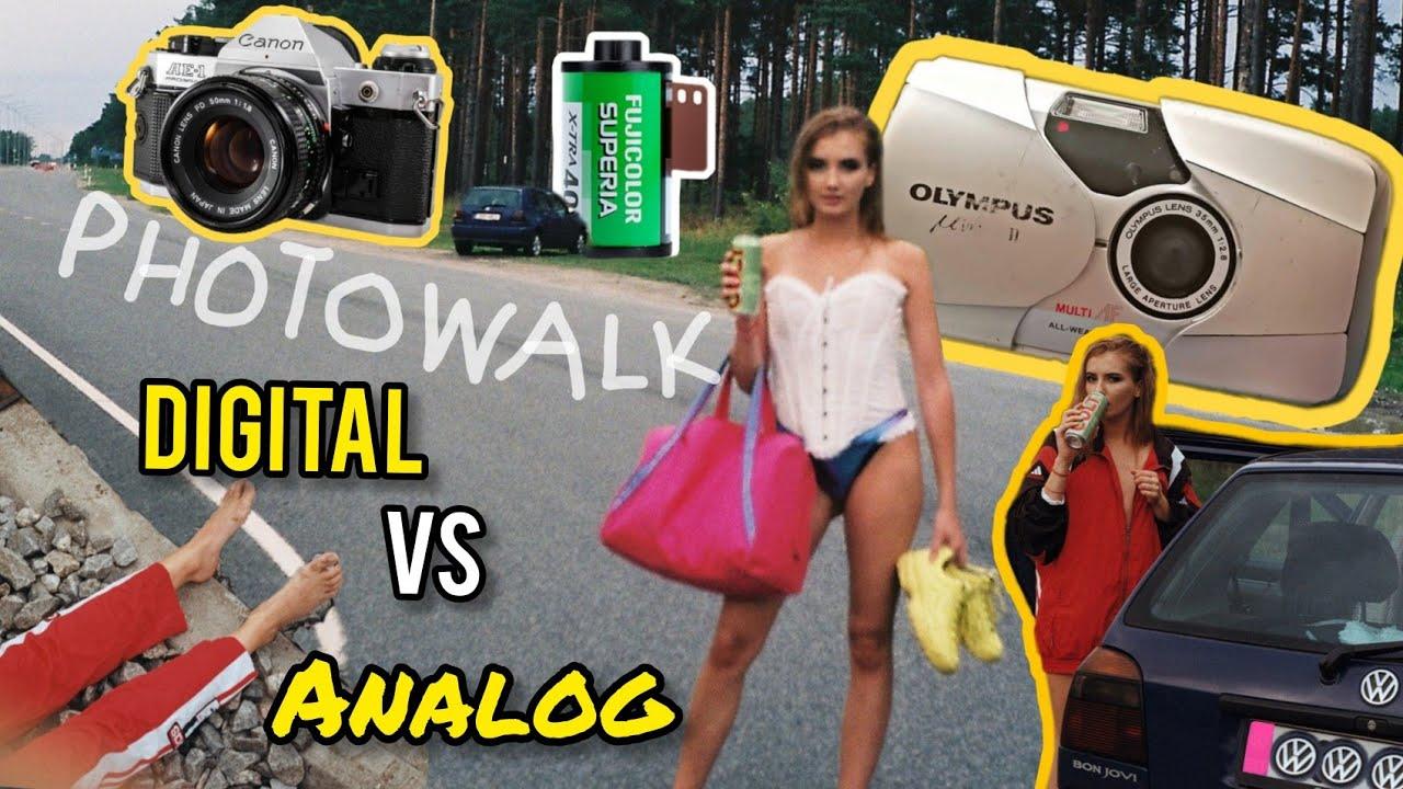 FILM IS NOT DEAD : Digital vs Analog Photography | Photowalk VLOG (very weird video vol2)