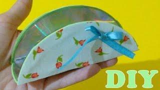 Do Lixo ao Luxo : Porta Guardanapos de Papel com CD Usado