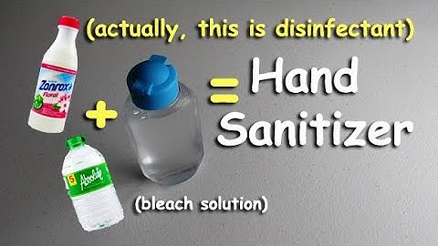 Bleach Water Solution (EASY 2-STEP TUTORIAL, Ratio For Hand Disinfectant)