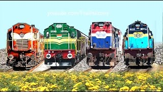 COLORFUL Trains and Diesel Locomotives | Indian Railways | Happy Holi