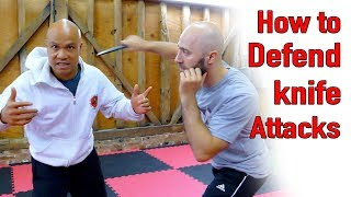 How to defend a knife attack to the neck - Wing Chun