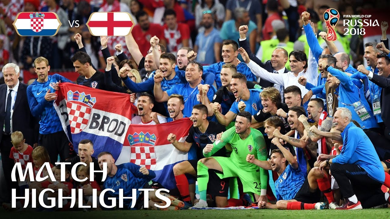 Croatia V England 2018 Fifa World Cup Russia Match 62 Youtube
