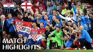 Croatia v England | 2018 FIFA World Cup | Match Highlights
