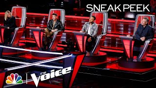 Kelly, Nick, John and Blake Play Telephone to Reveal the Mega Mentor - The Voice Knockouts 2020