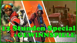[GER] 12 STUNDEN LIVE + GIVEAWAY 6k ABO Special🔥FORTNITE-APEX LEGENDS-B04-LS19🔴HD💥PS4 LIVE📽