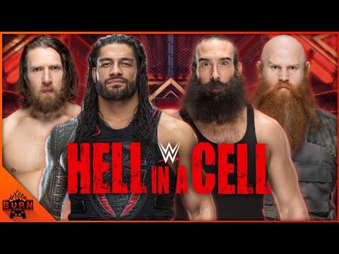 WWE 2K19 ROMAN REIGNS & DANIEL BRYAN VS ERICK ROWAN & LUKE HARPER | HELL IN A CELL |