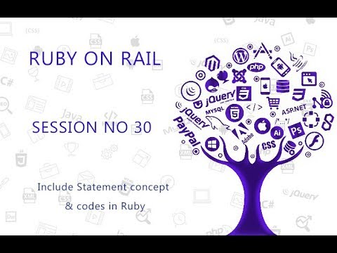 Ruby Programming Tutorial 30  Include Statement concept & codes in Ruby