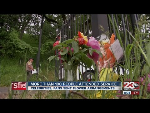 More than 100 people attended Haggard's funeral