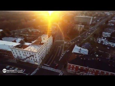 Somerville NJ Sunset Flyby in 4K