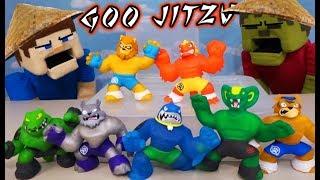 GOO JITZU Martial Arts Fighting Challenge!! Puppet Steve vs Zombie Steve!