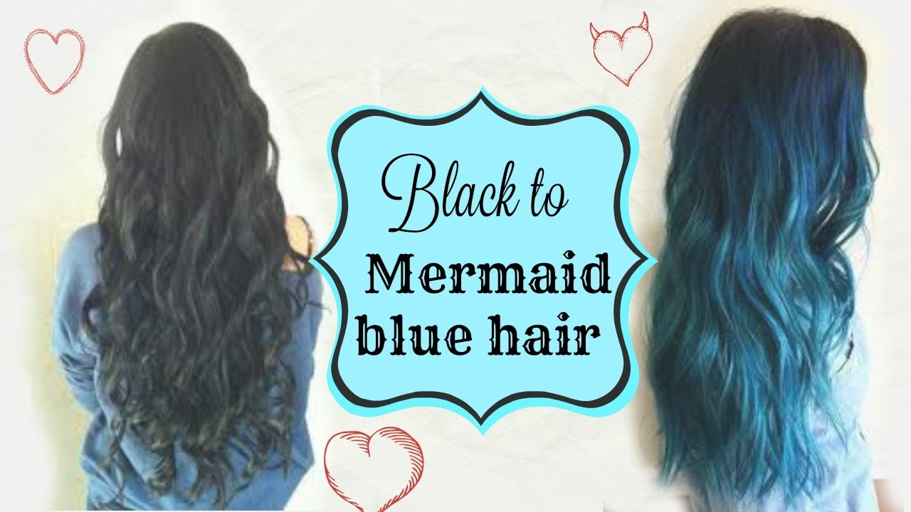 Dyeing Indian Black Virgin Hair To Mermaid Blue Therebelsays