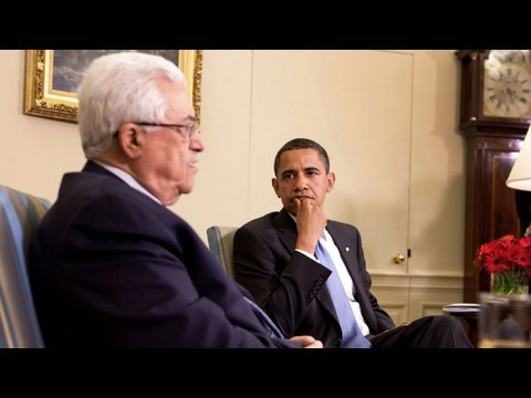 President Obama Meets With President Abbas Of Palestinian Authority