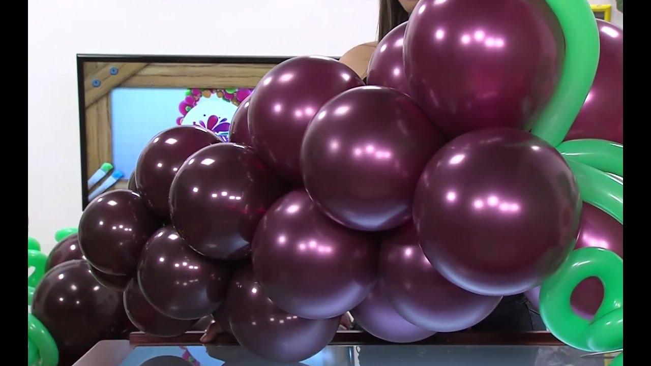 Globoflexia como hacer un racimo de uvas con globos for Como secar frutas para decoracion