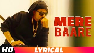 Mere Baare | Lyrical Video | Bohemia | Latest Punjabi Songs 2018 | Speed Records
