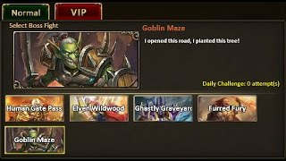Rise of Mythos - How to Beat Goblin Maze VIP Boss (Non-VIP Guide)