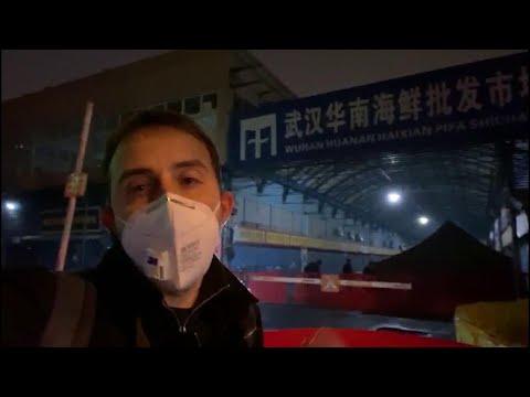 Virus Cina, Santelli: 'Qui a Wuhan al mercato del pesce dove è iniziata l'epidemia' - videoreportage