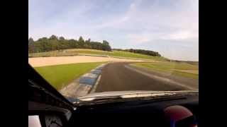 Mk4 astra van going around donnington park gp track.