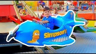 Kids Fun Ride on Cars and Helicopters *  Power Wheels at the Playground